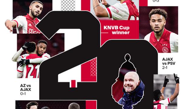 Κύπελλο Ολλανδίας: Χτύπησε με Νέρες στο τέλος και σήκωσε την 20ή του κούπα ο Άγιαξ! (video)