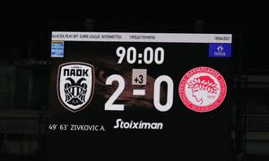 ΠΑΟΚ-Ολυμπιακός 2-0: Το «ασπρόμαυρο» πάρτι με Ζίβκοβιτς (photos+video)