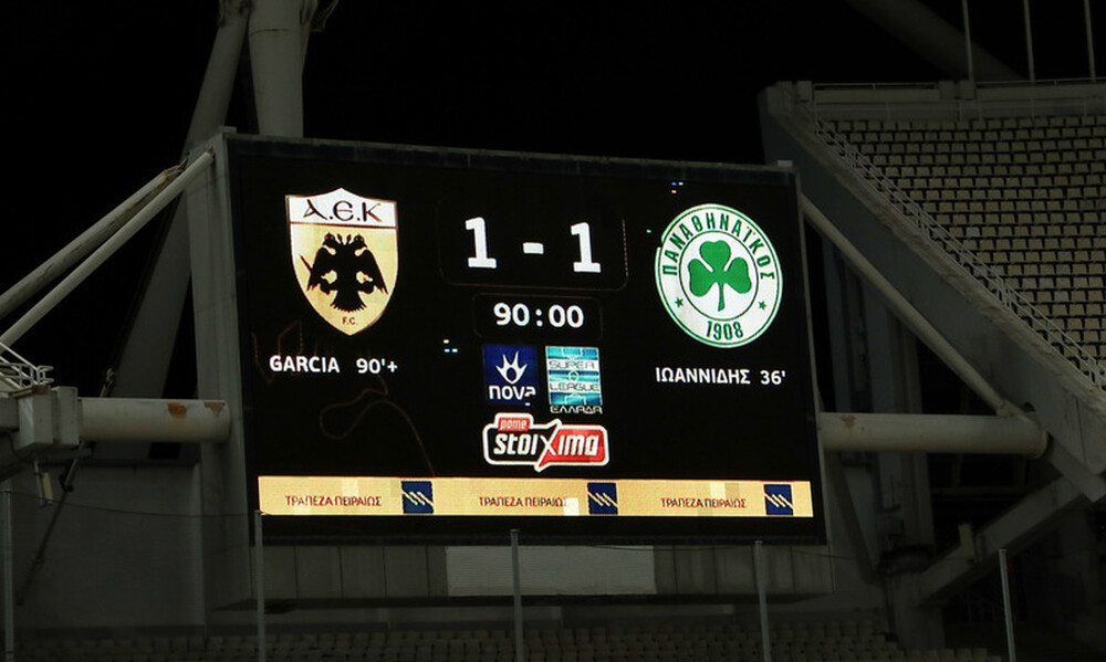 Super League: Η βαθμολογία μετά το ΑΕΚ-Παναθηναϊκός 1-1 και Άρης-ΠΑΟΚ 0-1 (video+photos)