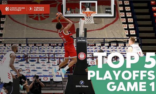 Euroleague: Το Top-5 της 1ης αγωνιστικής των playoffs (video)