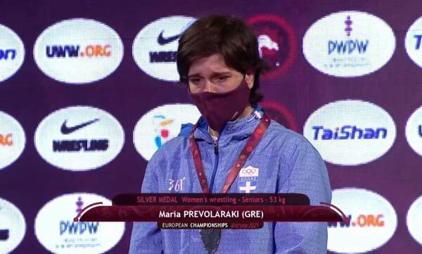 Πάλη: «Ασημένια» στο ευρωπαϊκό πρωτάθλημα η Πρεβολαράκη