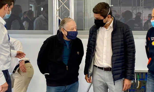 Ράλλυ Ακρόπολις: Συνάντηση Αυγενάκη με Ζαν Τοντ (photos)