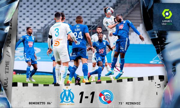 Ligue 1: «Έκλεψε» το βαθμό στο φινάλε η Μαρσέιγ