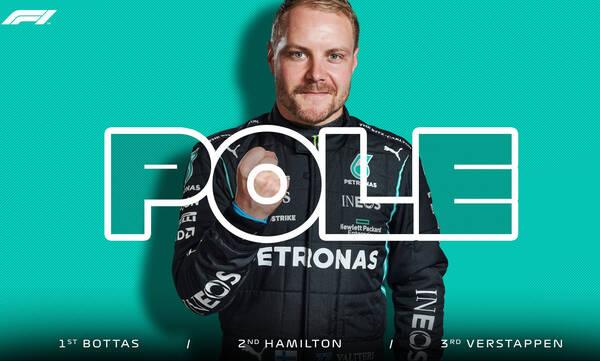 Formula 1: Την pole position o Μπότας (video+photos)