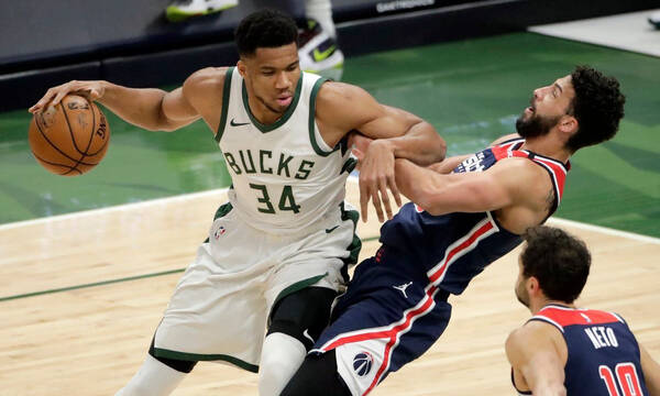 NBA: Πήραν το θρίλερ με Ουίζαρντς οι Μπακς με εξαιρετικό Αντετοκούνμπο (video)