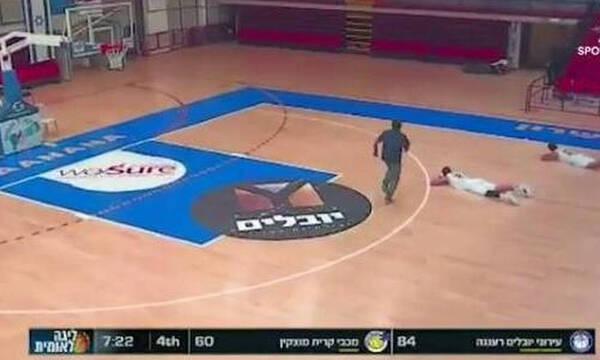 Σκηνές τρόμου σε αγώνα μπάσκετ - Σε καταφύγιο οι Έλληνες του Ισραήλ (video+photos)