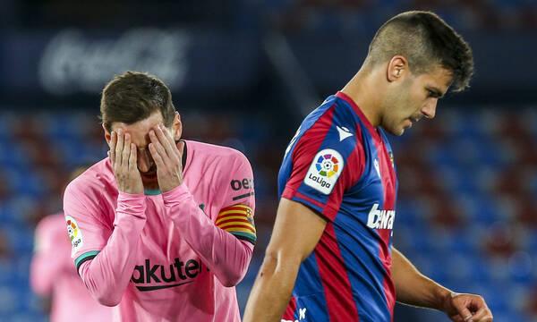 La Liga: «Σφαλιάρα» της Λεβάντε στην Μπαρτσελόνα - Δυσκολεύει η κατάκτηση του πρωταθλήματος