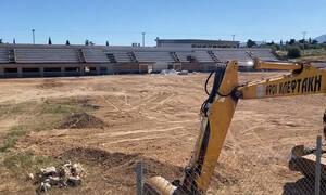 ΑΕΚ: Προχωρούν οι εργασίες στο γήπεδο στα Σπάτα (video)