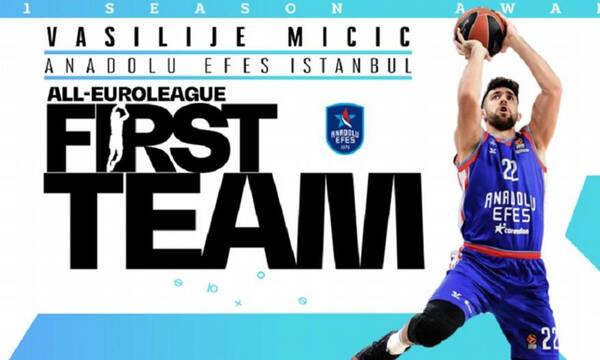 Euroleague: Στην καλύτερη 5άδα ο Μίσιτς