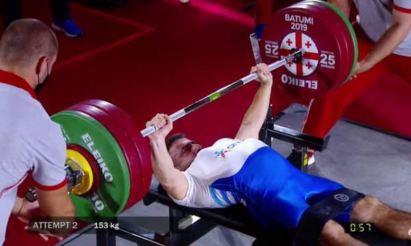 Άρση Βαρών σε πάγκο: Χάλκινο μετάλλιο ο Κουλούμογλου στο Παγκόσμιο Κύπελλο της Τιφλίδας