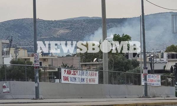 Φωτιά ΤΩΡΑ κοντά σε γήπεδο στα Άνω Λιόσια