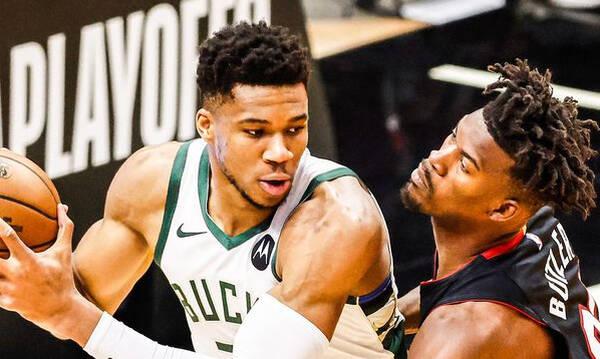 NBA: Ασταμάτητοι οι Μπακς με «διπλό» Γιάννη (photos+video)
