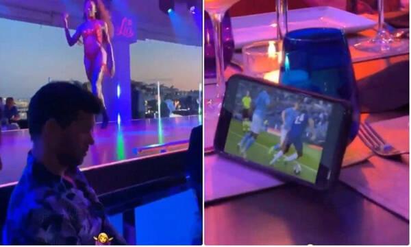 Επικός Μπάλακ: Πήγε σε στριπ κλαμπ και έβλεπε τον τελικό του Champions League (video+photos)