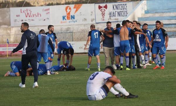 Ηρόδοτος: Πάρτι ανόδου των οπαδών έξω από το γήπεδο (video)