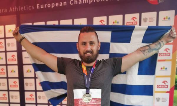 Χρυσό μετάλλιο με νέο ρεκόρ Ευρώπης ο Τζούνης στη δισκοβολία