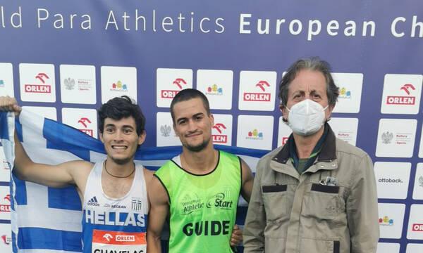 Πρωταθλητής Ευρώπης ο Γκαβέλας στα 100μ. Τ11 με guide τον Σωτήρη Γκαραγκάνη
