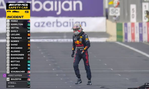 Formula 1: Ατύχημα και για τον Φερστάπεν - Έσκασε το ελαστικό του μονοθεσίου του