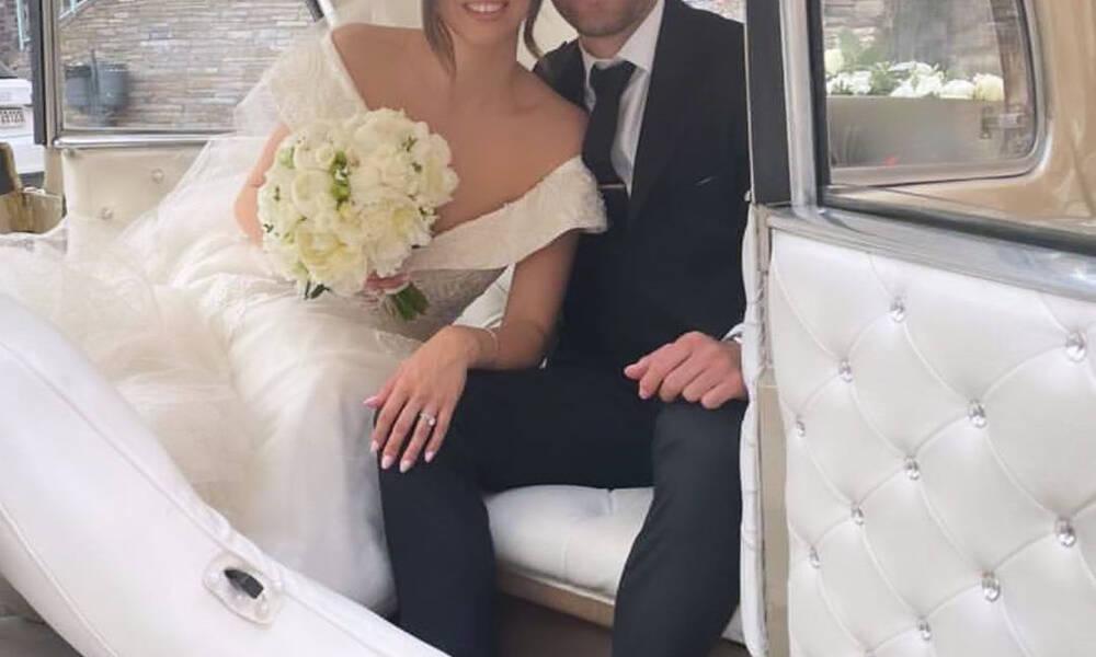 Παντρεύτηκε υπό άκρα μυστικότητα – Οι πρώτες φωτό από τον γάμο ποδοσφαιριστή στη Θεσσαλονίκη