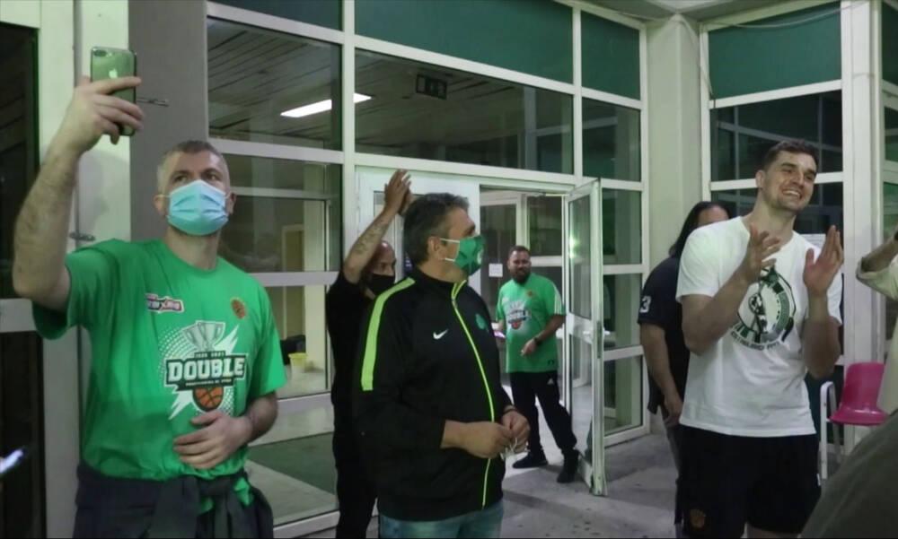 Παναθηναϊκός ΟΠΑΠ: Υποδοχή και αποθέωση των πρωταθλητών στο ΟΑΚΑ (video)
