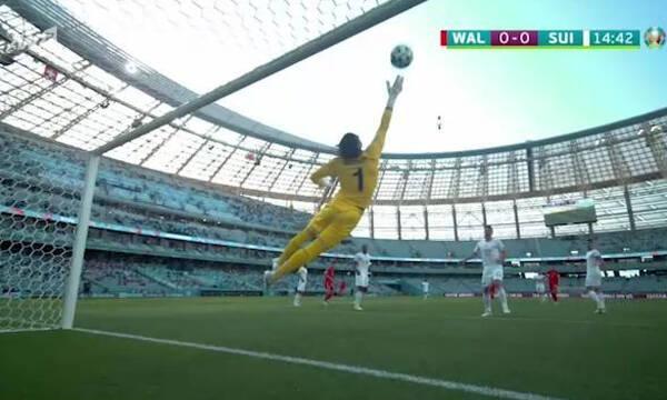 Euro 2020: Ουαλία-Ελβετία – Τρομερή απόκρουση ο Ζόμερ σε κεφαλιά του Μουρ (video)