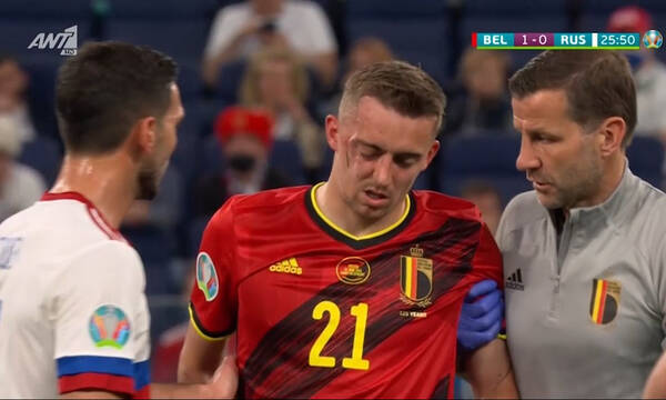 Euro 2020: Βέλγιο-Ρωσία – Πάγωσαν ξανά μετά την τρομερή σύγκρουση Κουζιάεφ-Καστάνιε (video)