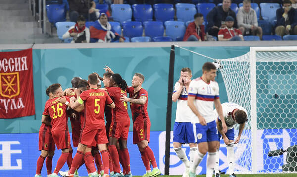 Euro 2020: Βέλγιο-Ρωσία 3-0 – Τα highlights από το πάρτι της παρέας του Λουκάκου! (video+photos)