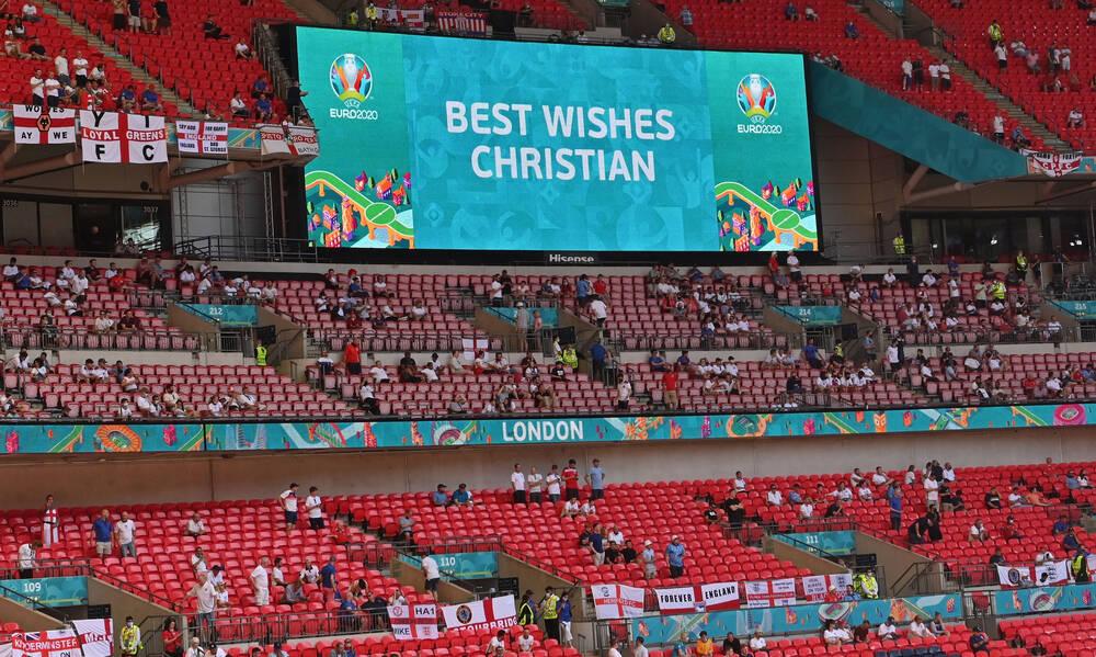 Euro 2020: Αγγλία-Κροατία – Με φανέλες Έρικσεν οι οπαδοί, θαυμασμός για Κιάερ (video+photos)