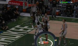 NBA: Ο σοβαρός τραυματισμός του Ίρβινγκ - Έτσι προσγειώθηκε στο πόδι του Γιάννη Αντετοκούνμπο