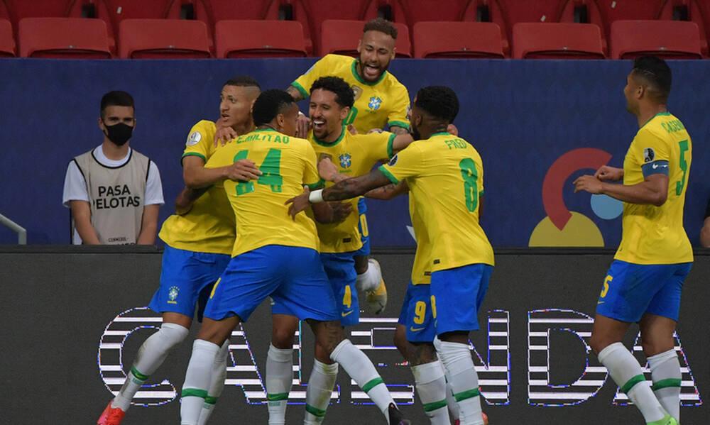 Copa America: Η Βραζιλία άνοιξε το σκορ με Μαρκίνιος κόντρα στη Βενεζουέλα (video+photos)