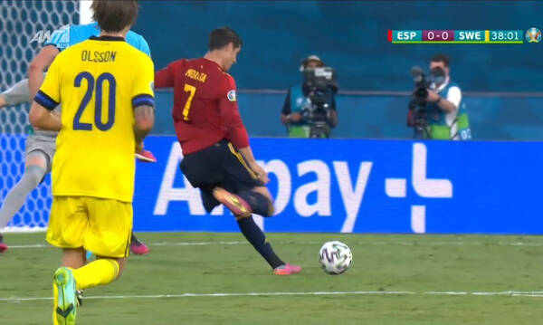 Euro 2020 Ισπανία - Σουηδία: Η τεράστια ευκαιρία του Μοράτα και το δοκάρι του Ισάκ
