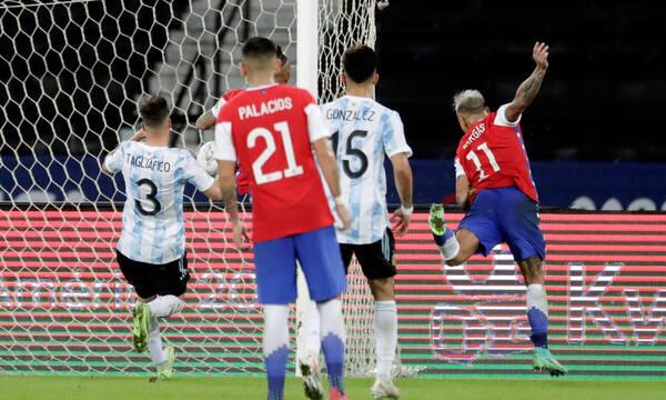 Copa America: Ο Βιδάλ έχασε το πέναλτι, αλλά ο Βάργκας έκανε το Αργεντινή-Χιλή 1-1(video+photos)