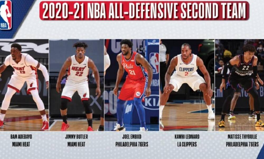 NBA: Στην καλύτερη αμυντική πεντάδα ο Αντετοκούνμπο