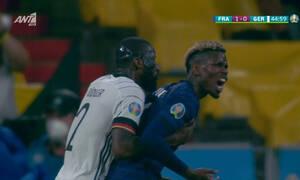 Euro 2020: Ο Ρούντιγκερ δάγκωσε τον Πογκμπά, αλλά δεν το είδε ούτε το VAR (video)