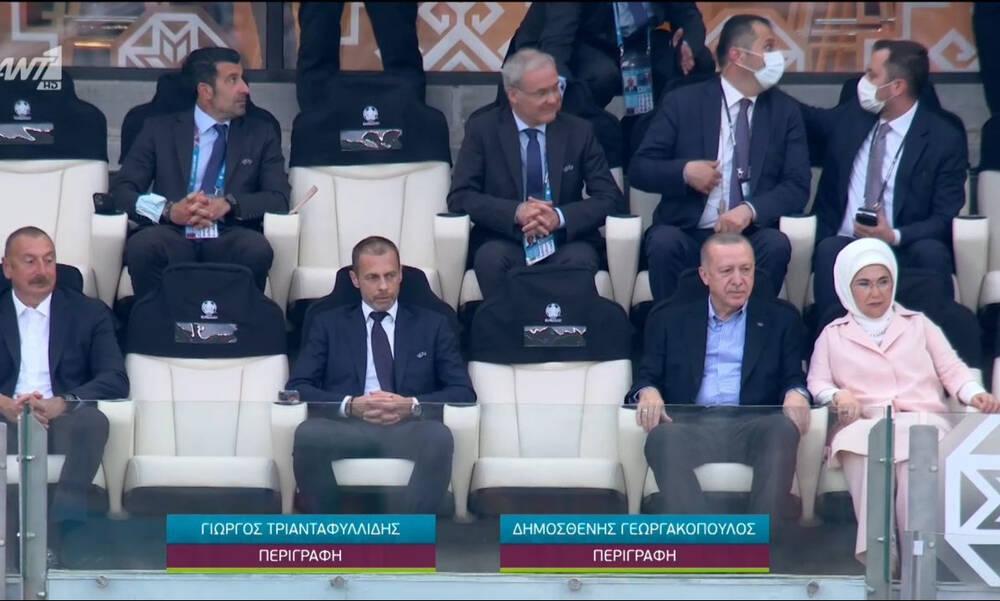 Euro 2020: Στις εξέδρες ο Ερντογάν για το Τουρκία - Ουαλία (video)
