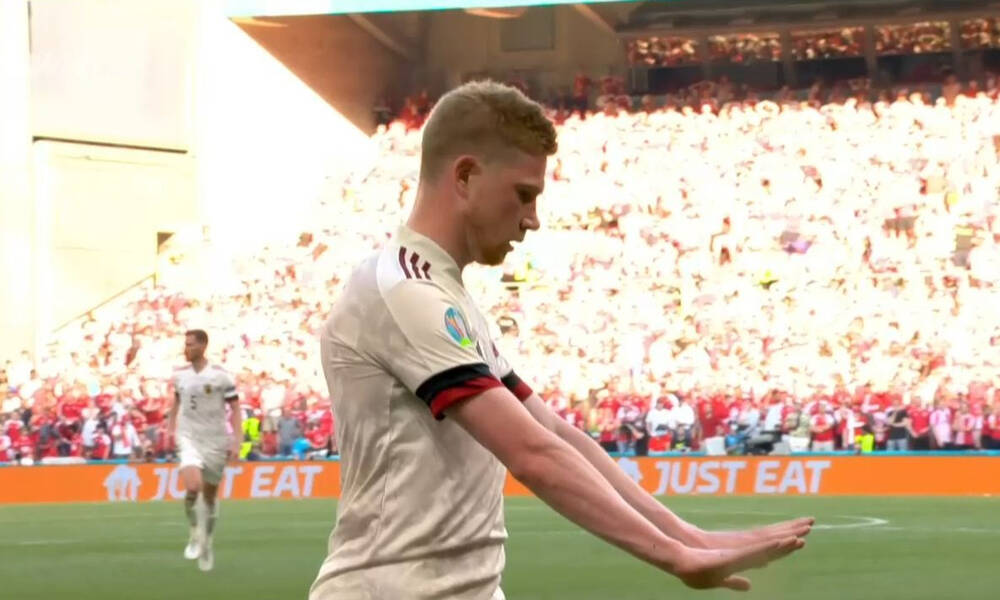 Euro 2020: Συγκλονιστικός Ντε Μπρόινε - Έβαλε γκολάρα, αλλά σκέφτηκε αμέσως τον Έρικσεν (video)