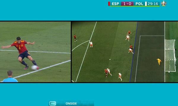 Euro 2020: Σκόραρε ο Μοράτα και μέσω VAR έγινε το Ισπανία-Πολωνία 1-0 (video)