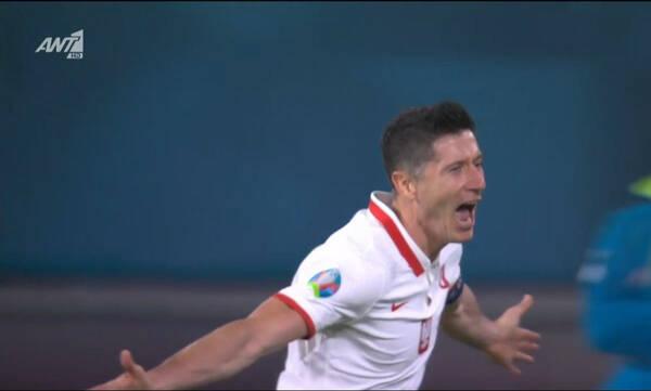 Euro 2020: Επιτέλους γκολ ο Λεβαντόφσκι! Ισοφάρισε η Πολωνία (video)