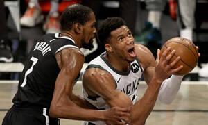NBA: Μυθικός Αντετοκούνμπο - Στους τελικούς της Ανατολής οι Μπακς