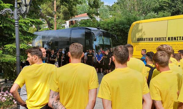 ΑΕΚ: Μήνυμα στήριξης από οπαδούς για τη νέα σεζόν (photos)