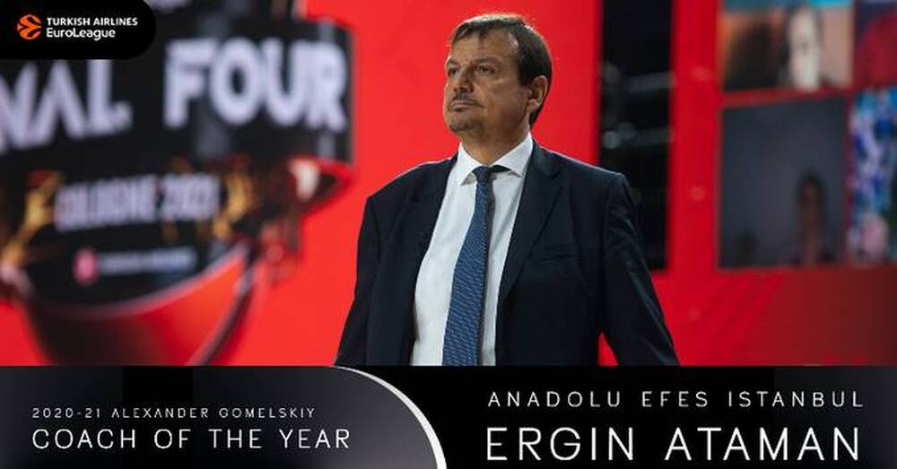Euroleague: Κορυφαίος προπονητής της σεζόν ο Αταμάν