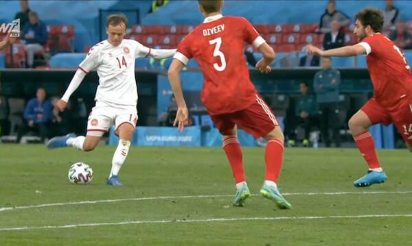 Euro 2020: «Κεραυνός» του Ντάμσγκααρντ κι 1-0 η Δανία τη Ρωσία! (video)