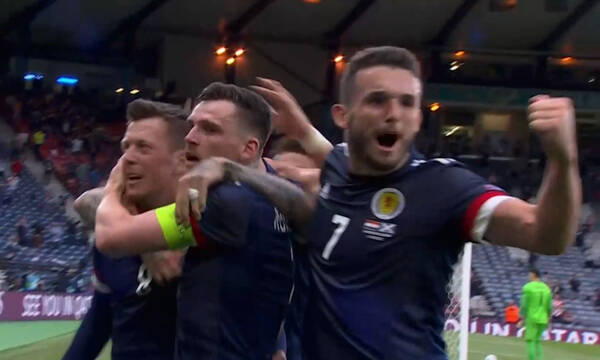 Euro 2020: Ψυχωμένη η Σκωτία - Ισοφάρισε με γκολάρα του ΜακΓκρέγκορ (video)