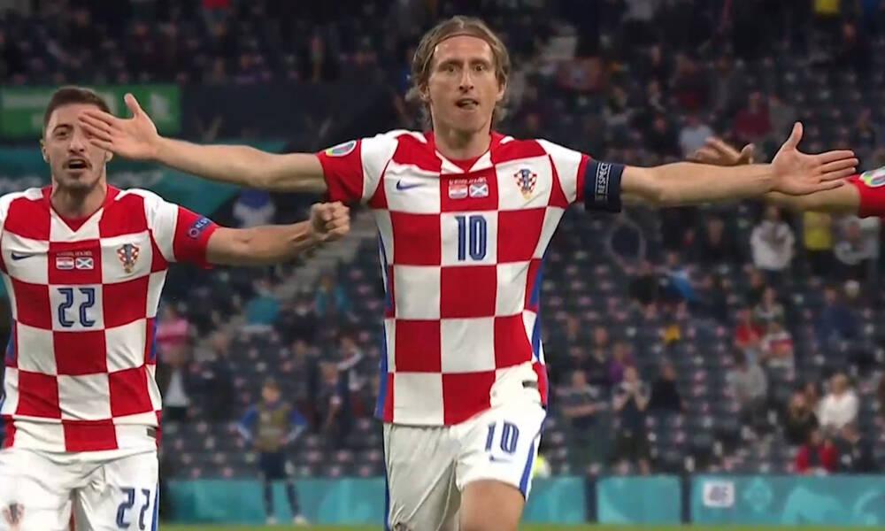 Euro 2020: Τεράστιος Μόντριτς! Απίθανο γκολ για το 2-1 (video)