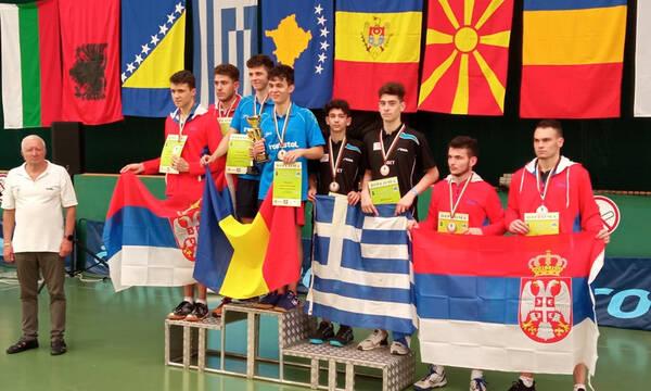 Βαλκανικό πρωτάθλημα: Δύο ακόμη χάλκινα από τους νέους με Γιαννούτσο και Γιαννούτσο/Μαδέση