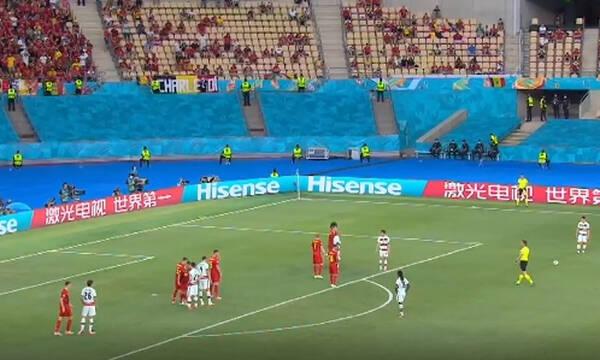 Euro 2020: Το απίστευτο φάουλ του Κριστιάνο Ρονάλντο (video)