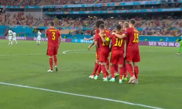 Euro 2020: Απίθανο γκολ ο Θοργκάν Αζάρ, «πληγώνει» την Πορτογαλία (video)