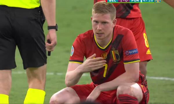 Euro 2020: Αποχώρησε ο Ντε Μπρόινε (video)