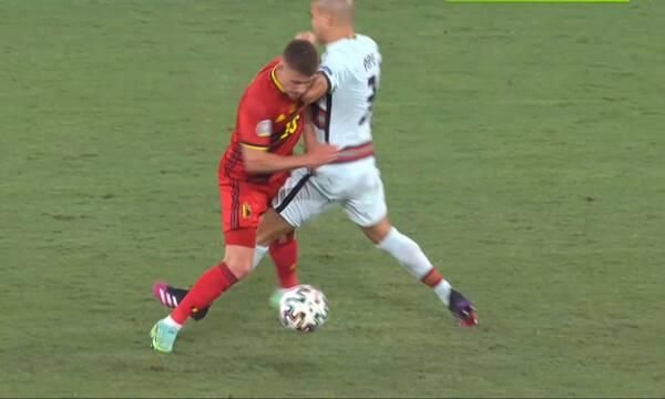Euro 2020: Πολλά νεύρα στο Βέλγιο-Πορτογαλία - Ένταση με... κλωτσιές και τάκλιν
