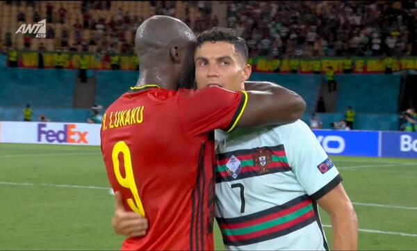 Euro 2020: Η αγκαλιά του Λουκάκου στον Κριστιάνο μετά το Βέλγιο-Πορτογαλία (video)