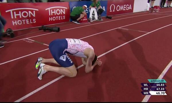 Απίστευτη επίδοση στο Diamond League: Παγκόσμιο ρεκόρ του Γουόρχολμ στα 400μ. με εμπόδια (video)